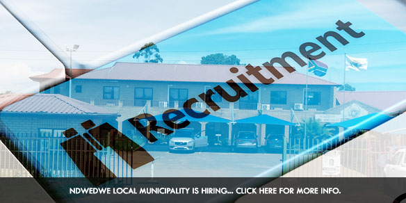 Ndwedwe Local Municipality is hiring... click here for more info.